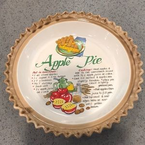 Apple Pie ceramic plate